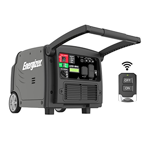 Energizer eZV3200, 2800W Running Quiet Portable Gas Powered Inverter Generator w Electric/Remote Start, CARB