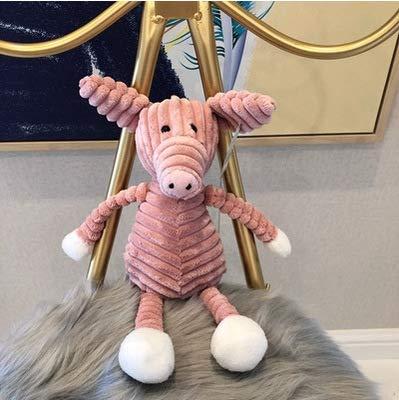 Cjwdxxnh 1 pièces Mignon forêt Animal en Peluche rayé bébé éléphant Lion Renard Lapin Cochon Doux Jouets en Peluche ré France