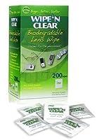 メガネ用 携帯できるシートクリーナー*WIPE'N CLEAR 200包【平行輸入品】