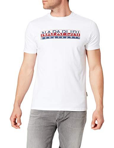 Napapijri SERIS Camiseta, Blanco Brillante, XXL para Hombre