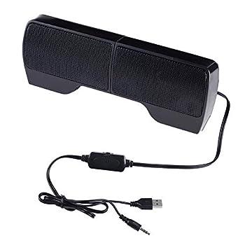 ELENKER Laptop Speakers External USB Powered Mini Wired Portable Clip-on Computer Soundbar for Desktop PC Monitor Notebook Tablets TV