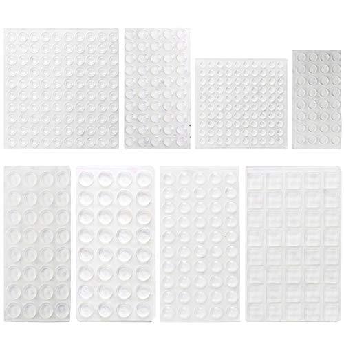 HO2NLE 436 Stück Anschlagpuffer Transparent Schutzpuffer Gummipuffer Selbstklebend Elastikpuffer Türpuffer Möbelpuffer Anschlagdämpfer für Tür Möbel Notebook (8 Größen)