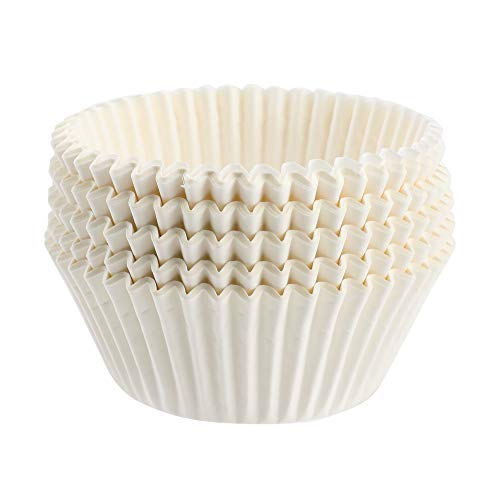 TRUSBER Baking Cups, 100 pieces Paper Cupcake Liners Wrappers Nonstick Muffin Molds Baking Cup Holders for Wedding, Birthday, Baby Shower or Holiday Party