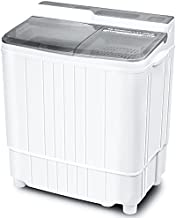Portable Washing Machine Mini 17.6 Lbs Compact Washer Machine And Dryer Combo w/11 Lbs Small Twin Tub Washer and 6.6 Lbs Spin Cycle for Camping, Apartments, Dorms, College Rooms, Rv's (Grey)