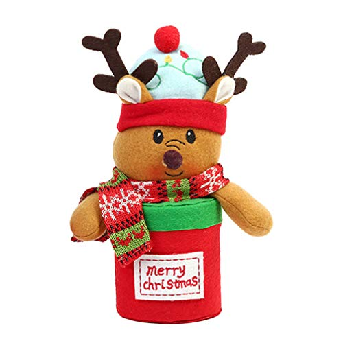 Amosfun Kerstmis Gift Bag Kerstboom Vorm Kerstmis Apple Doos Leuke Snoepzak Cookie Tas voor Kerstmis Feest benodigdheden Size 1 Elk