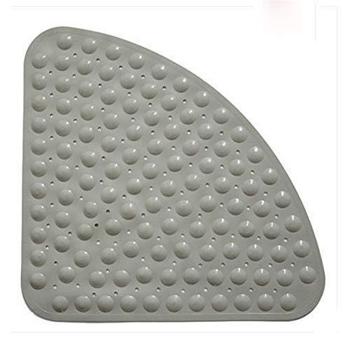 QQTT Triangular Alfombrillas De Baño Color Sólido Antideslizante Alfombras De Ducha para Niños con Ventosa con Orificio De Drenaje Alfombra De Baño Resistente Al Desgaste