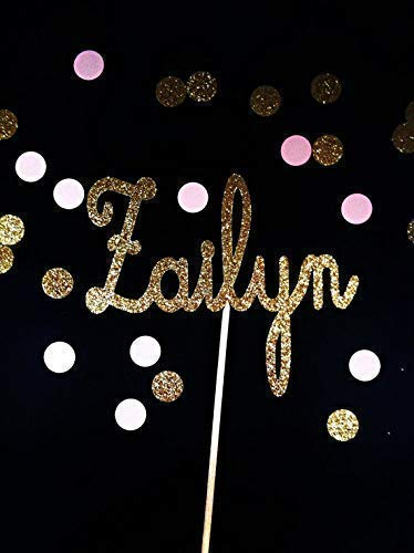 Glitter Name Cake Topper made in name of your choice | custom orders accepted