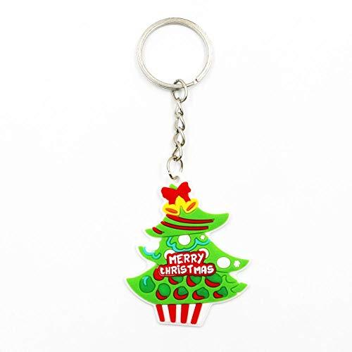 WGYDX Schlüsselbund Nette Lustige Karikatur Weihnachten Schlüsselbund Weihnachtsmann Hirsch Baum Socken Schneemann Weihnachten Schlüsselring Unisex Schlüsselanhänger Festival Geschenkbaum