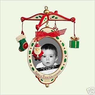 2005 Hallmark Keepsake Christmas Ornament BABY'S FIRST 1st CHRISTMAS Photo Holder QXG4622