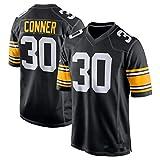 NBJBK Camiseta de Football de la NFL, Pittsburgh Steelers 7# 19# 30# 90# Camiseta Deportiva de fútbol de Manga Corta con Top Deportivo Bordado,B-30,M