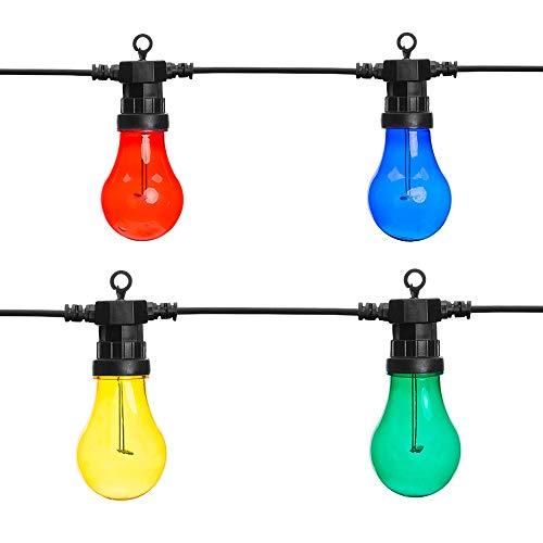 gresonic 10er LED Glühbirnen zur Dekoration innen und außen (Bunt, 10er)