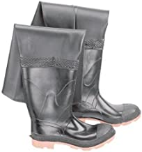 Bata Shoe 86049-09 Onguard Industries Size 9 Storm King Black 27'' PVC And Polyester Hip Waders With Cleated Outsole, Steel Toe And Removable Insole