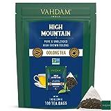 VAHDAM, Tè Oolong dall'Himalaya (100 Bustine di Tè) - 100% Tè Detox Naturale | Tè Oolong a Foglia Lunga in Bustine Piramidali | 100% Puro Tè Oolong - Caldo, Freddo o Kombucha