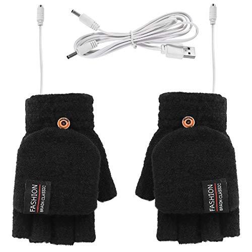 Guanti riscaldati USB invernali lavorati a maglia, guanti da uomo e donna