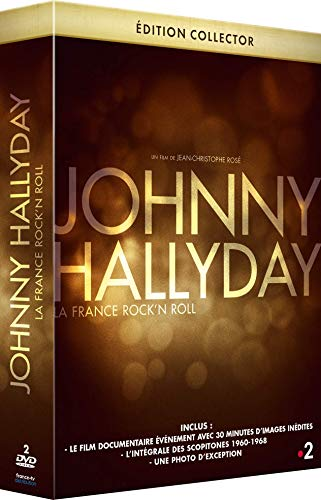 Coffret Prestige HALLYDAY : La dernière Interview filmée de Johnny + des Bonus exclusifs et inédits + Le DVD des Scopitones des années 1960-1968 + Photo [Édition Collector]