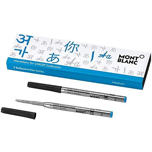 Montblanc - Recambio para bolígrafo, color Unicef azul. M