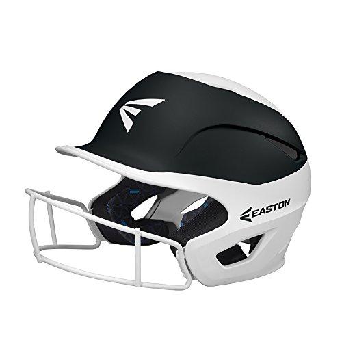 EASTON PROWESS Fastpitch Softball Batting Helmet with Mask | Small / Medium | Matte Black / White | 2020 | Multi-Density Impact Absorption Foam | High Impact Lightweight Shell | BioDRI Liner