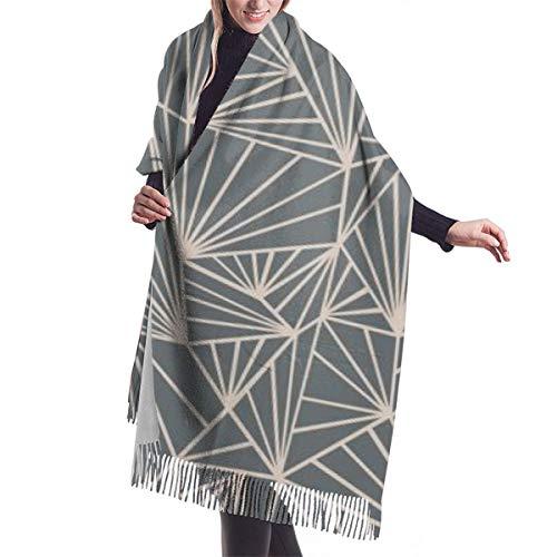 Bufanda grande de cachemira suave para mujer, elegante, cómoda, bufanda de invierno,...