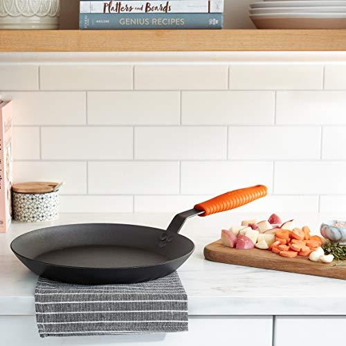 Lodge Manufacturing Company carbon steel skillet, Black/Orange, 12-Inch