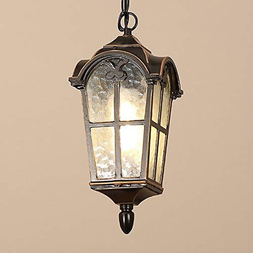 Mengjay Étanche IP23 Extérieure Intérieure Lampe Suspendue E27 Imperméable À L extérieur Suspendus Lampes Suspension Extérieure pour Jardin Patio Pavillon Cuisine