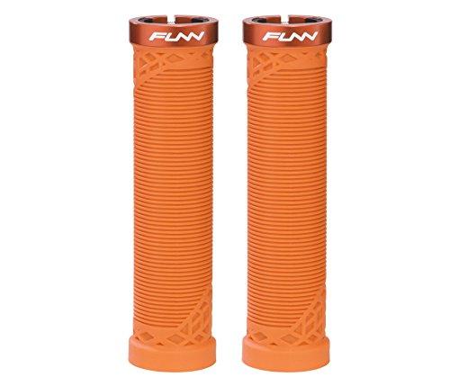 Funn Hilt Mountain Bike Handlebar Grips with Single Lock-on Clamp, Lightweight and Ergonomic Grips for MTB (Orange)