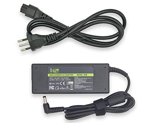 19V 4,74A 90W Alimentatore caricabatteria per PC Notebook compatibile con Asus A52 K50 K50AB K50C K50IN K52 K52D K52F K52J K52JC K52N K53 K53E K53S K70 K70IJ X52 X52J X53 X53S X53U X54 X54C X54H (DC 5,5 mm * 2,5 mm)