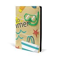 ブックカバー a5 なつ ビーチ カニ 文庫 PUレザー ファイル オフィス用品 読書 文庫判 資料 日記 収納入れ 高級感 耐久性 雑貨 プレゼント 機能性 耐久性 軽量