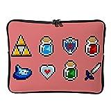 Regular Zelda-Element - Bolsas para ordenador portátil, multicolor, blanco (Blanco) - XHJQ88-DNB-8