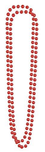 2 Collane di Perle Rosse per Adulto