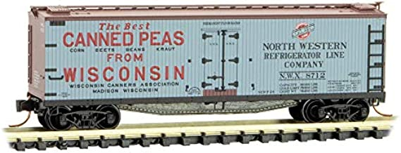 Micro-Trains MTL N-Scale 40ft Wood Reefer Farm-to-Ta​ble #5 Wisconsin Can. #8712