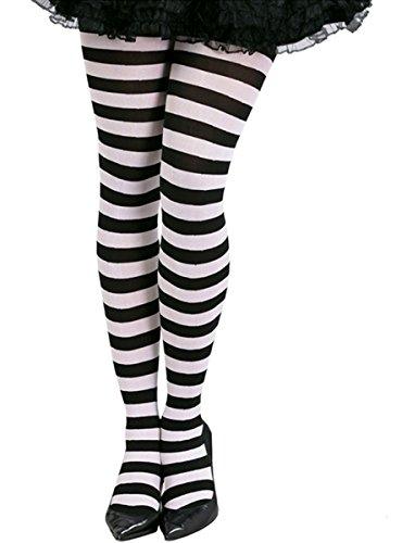 Gestreepte panty zwart / wit