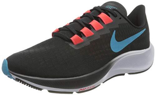 Nike Air Zoom Pegasus 37, Zapatillas para Correr Hombre, Off Noir Lt Blue Fury BRT Crimson Black White, 40 EU