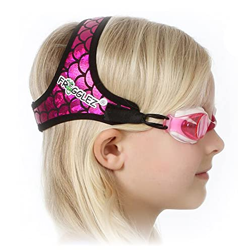 Frogglez Kids Swim Goggles with Pain-Free Strap | Ideal for Ages 3 – 10 in Swimming Lessons | Leakproof, No Hair Pulling, UV Protection | Swimming Goggles for Kids Recommended by Olympic Swimmers