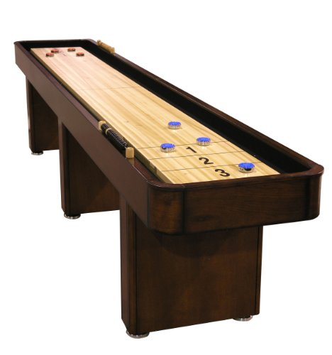 Fairview Game Rooms 12' Shuffleboard Table, in Chestnut Finish