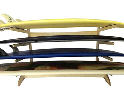 surfboard racks for trucks Steves Rack Shack 4 Space Horizontal Surfboard Freestanding Storage | 4 Spaces, Storage for: shortboard, Fish, Fun Boards (Freestanding; for use Indoors; Made in The USA)