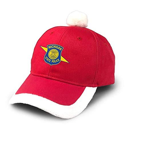 ghjkuyt412 Santa Baseball Cap,Michigan State Police Logo Christmas Baseball Cap
