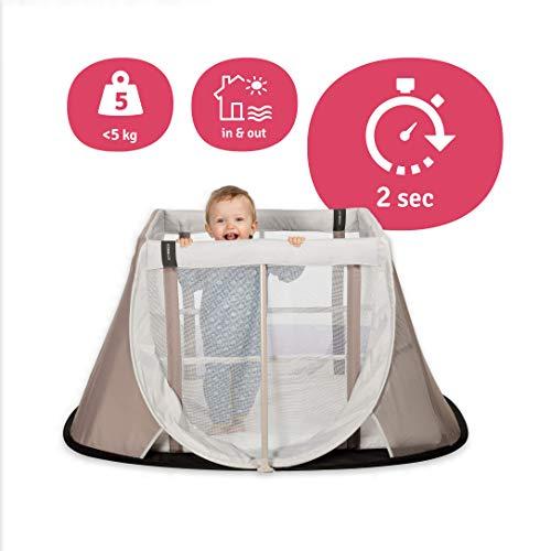 Aeromoov ASATC11060WS - Cuna de Viaje para bebé plegable e instantánea con colchón configurable a dos alturas y bolsa de transporte (color arena)