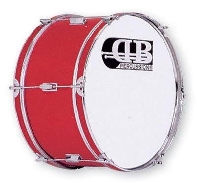 DB Percussion DB0047 - Bombo banda 20' x 10', color rojo