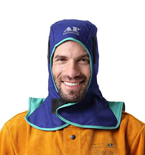 ALLYPROTECT Blue Flame Retardant cotton welding hood/match all kinds of welding helmets