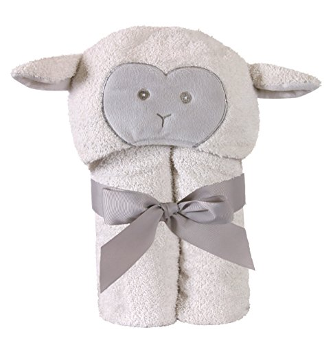 Stephan Baby Terry Plush Hooded Bath Towel, Lamb, 0-24 Months