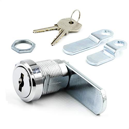BURG Hebelschloss-Set 20mm verschiedenschließend mit Sicherheitszuhaltung (Universalzylinder, Briefkastenschloss, Möbelschloss)