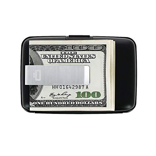 Ögon Smart Wallets - Stockholm Clip Cartera Tarjetero - Protección RFID: Protege Tus Tarjetas de Robar - hasta 10 Tarjetas + Recetas + Notas - Aluminio anodizado (Negro)
