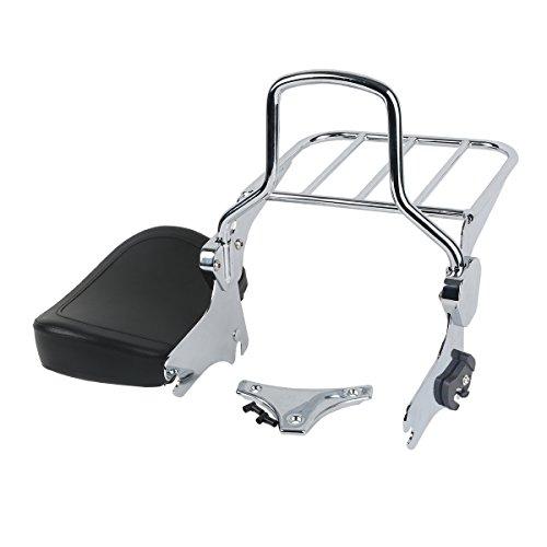 XFMT Backrest Detachable Sissy W/Luggage Rack Set Compatible with Harley 1997-2008 Road King FLHT FLHX and FLTR Models