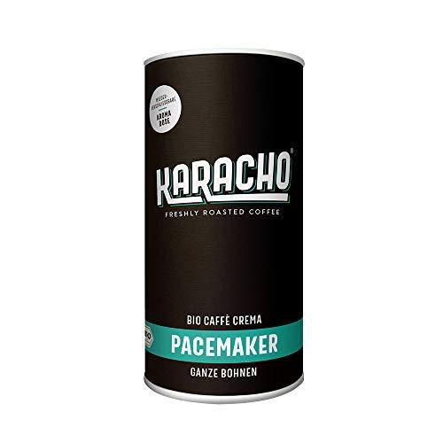 Karacho Pacemaker | Bio Caffè Crema | ganze Bohne | Freshly Roasted Coffee | wiederverschließbare Aromadose | für Vollautomat, Siebträger, Filtermaschine und Handfilter| 340g