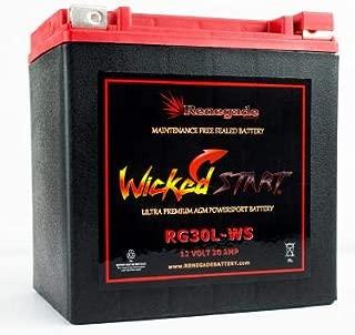 RG30L-WS; Arctic Cat battery 600+ CCA:s 2012, 2013, 2014, 2015, 2016, 2017 Wildcat 1000 (LTD), Wildcat 4, Wildcat 4X, Wildcat X 1000 (Limited), Wildcat Sport, Wildcat Trail; BTX30L, B30L-B, CB30L-B