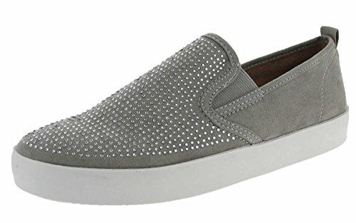 Jane Klain Damen Schuhe Slipper 242-436 in Grau mit Glitzersteinen (EU 38)