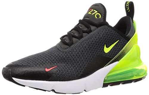 Nike Mens Air Max 270 SE Running Shoes Anthracite/Volt/Black/Bright Crimson AQ9164-005 Size 11
