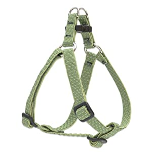 LupinePet Eco 1/2″ Moss 12-18″ Step In Harness for Small Dogs