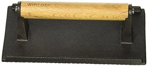 Winco SWA-2 Cast Iron Steak Weight, 4.25-Inch by 8.25-Inch