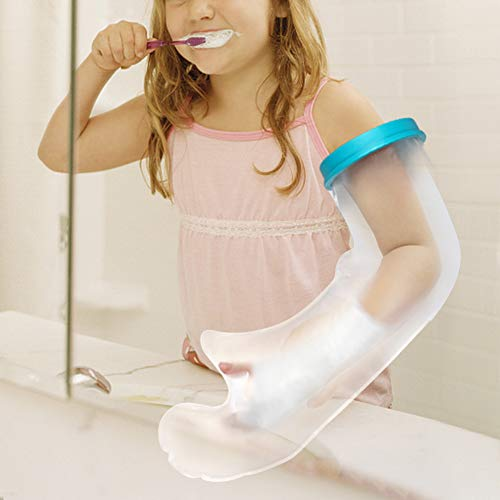 Kids Arm Cast Protector for Shower Bath, Cast Waterproof Cover Arm Reusable Cast Bandage Cover for Injury, Wound, Burn, Hand, Finger, Wrist, Elbow, Arm Cast Sleeve Bags with PVC Material - 19Inch